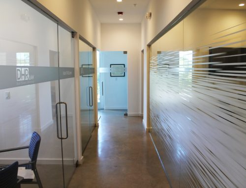 Transform Glass Office Spaces With Decorative Window Films and Etched Vinyl